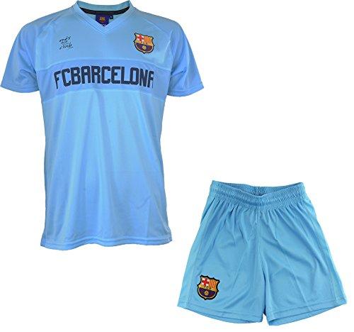 FC Barcelona Set Trikot + Shorts Barça, offizielle Kollektion, Kindergröße 110 blau