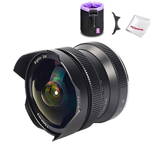 Brightin Star 7.5mm F2.8 カメラ交換レンズ APS-C広角魚眼レンズ 手動式 1年保証 (Sony Eマウント)