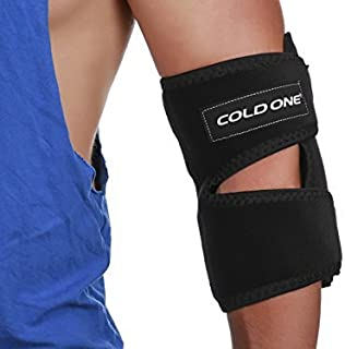 Elbow Ice Pack Soft Brace + Compression for Tennis Elbow Fast Pain Relief, 360 deg. Ice Wrap, 0 deg. C 15-20 Minutes, Icing Recommended by Ortho MDS as Safe and Effective. Universal Size, USA