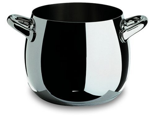 """Alessi,SG100/24""""MAMI"""", Stockpot in 18/10 stainless steel mirror polished,10 qt 19 oz"""