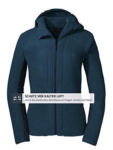 Schöffel Damen Fleece Hoody Trifide L, leichte und atmungsaktive Fleece Jacke, warme Damen Jacke mit hochschließendem Kragen
