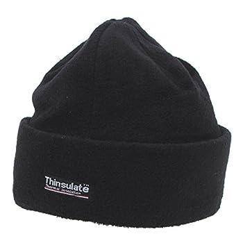Lampe Chapeau d'hiver/Montre cap en polaire avec doublure Thinsulate-Noir