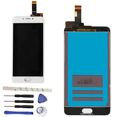 Draxlgon Reemplazo para Meizu M6 M711H M711M M711Q 5.2' Pantalla LCD Asamblea de digitalizador con Pantalla táctil (Blanco)