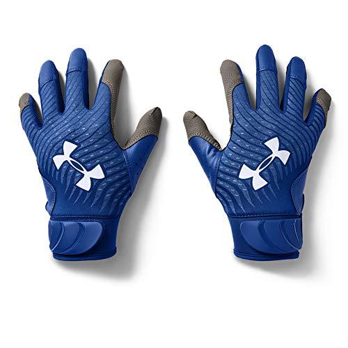 Under Armour Boys' Harper Hustle 20 Baseball Gloves , Royal Blue (400)/White , Youth Medium