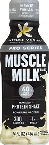 Muscle Milk Pro Series, Mega Protein Shake, Intense Vanilla, 14 Ounce, Pack of 12