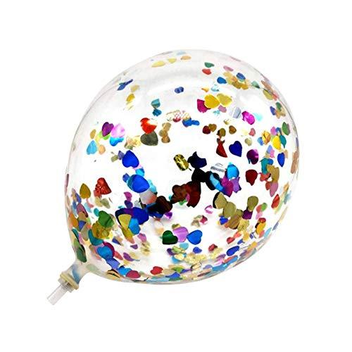 JSJJARF Balloon 10Pcs 12inch Glitter Confetti Latex Balloons Wedding Christmas Decoration Baby Shower Birthday Party Decor Air Balloons (Ballon Size : 10pcs, Color : Colorful Heart)