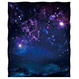 Mimihome Galaxy Throw Blanket, Outer Space Universe Starry Night Sky Blanket Warm Fleece Blanket Boy Girls for Sofa Couch Bed Chair, 80x58 Inch