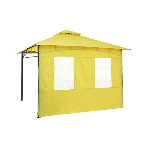 tepro Set di pannelli laterali per gazebo Lehua e gazebo Waya, colore giallo, 2 pezzi