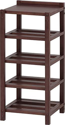 市場(Marche) オープンシェルフ ブラウン 29x27x62.5cm 木製 すのこタイプ ILR-3186BR