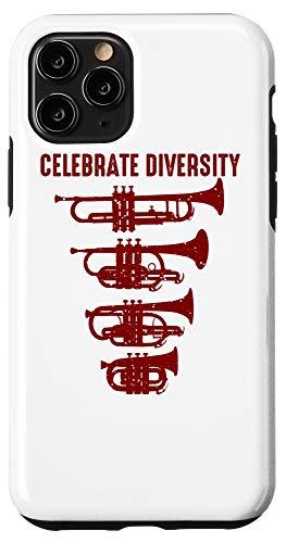 iPhone 11 Pro Cool Celebrate Diversity Trumpet Gift Cute Flugelhorn Cornet Case