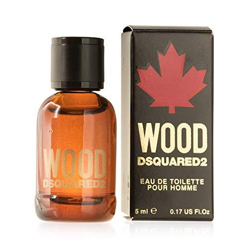 Perfumes miniatura como detalles boda hombre Dsquared2 Wood Eau de toilette 5 ml. de marca o detalles de comunión y pequeños regalos