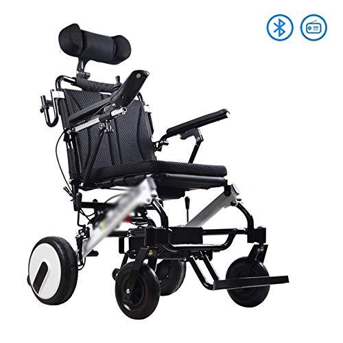 BBJZQ Elektrischer Rollstuhl-Faltbarer Kann 35 Km Fahren Ultraleichter Elektrorollstuhl Bluetooth-Design Wiegt Nur 20kg(17.5a Lithiumbatterie) geeignet Für ältere Und Behinderte Menschen