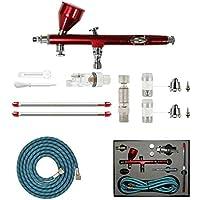 Kit de pintura profesional con aerógrafo de la marca Abest, para manualidades, proyectos de modelismo, gatillo de acción dual (0,2 - 0,3 - 0,5 mm)