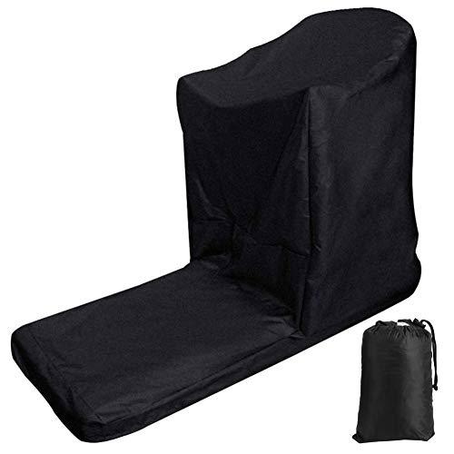 wxf L‑en forma de caminadora cubierta impermeable a prueba de polvo cubierta protectora al aire libre suministros interiores negro 206×94×170cm