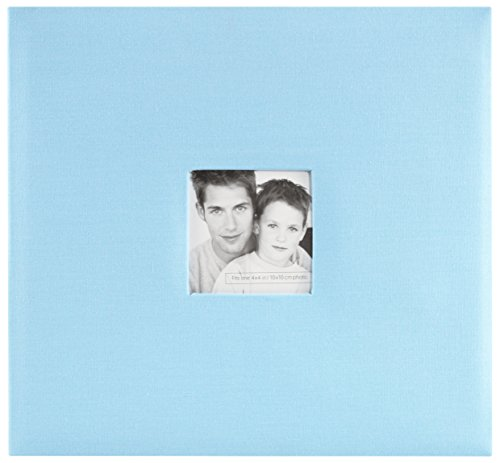 MCS MBI 13.5x12.5 Inch Fashion Fabric Scrapbook Album with 12x12 Inch Pages with Photo Opening, Sky Blue (802514)