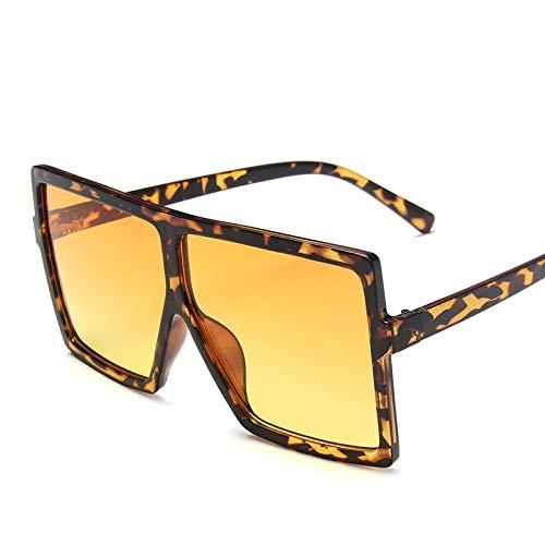 Único Gafas de Sol Sunglasses Gafas De Sol Cuadradas Clásicas Vintage para Mujer, Gafas De Sol De Gran Tamaño Siamesas P