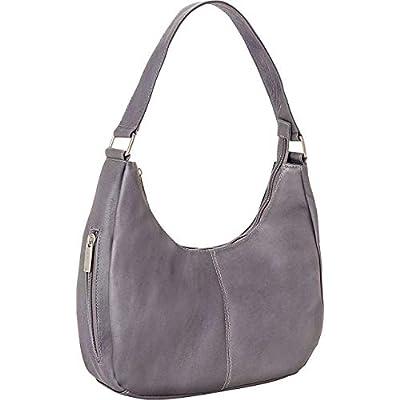 Le Donne Classic Hobo Handbag, Gray
