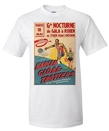 Lanterner Harlem Globe-Trotters Vintage Poster (Artist: Anonymous) France c. 1954 (Premium T-Shirt)