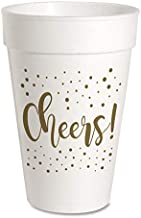 Cheers Celebration Party Cups - Styrofoam 16oz 10 Pack