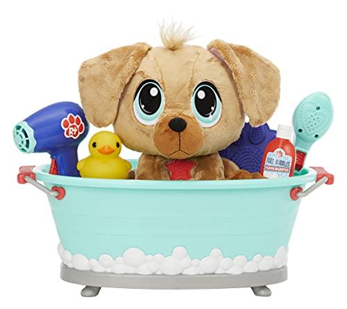 little tikes Rescue Tales Scrub 'n Groom Bañera con Peluche de Golden Retriever-Juguete para Mascotas-Fomenta la empatía-Incluye Cepillo, Patito y más-Edad: 3+ años (658662)