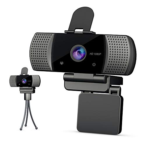 1080P Compatibility Webcam with Microphone - Webcam with USB Streaming for Computer Desktop Laptop,110° Wide Angle with Plug and Play for Video Calling/Conferencing/Gaming.