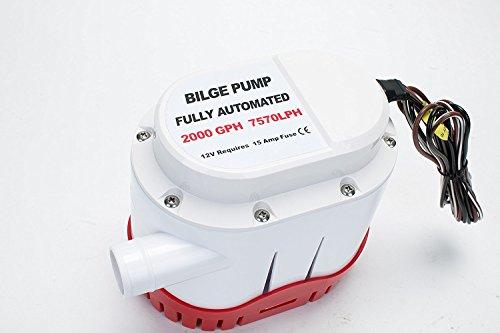 Amarine-made Automatische Wasserpumpe für Boote, 12 V, 2000 gph, automatisch, mit integriertem Schwimmerschalter