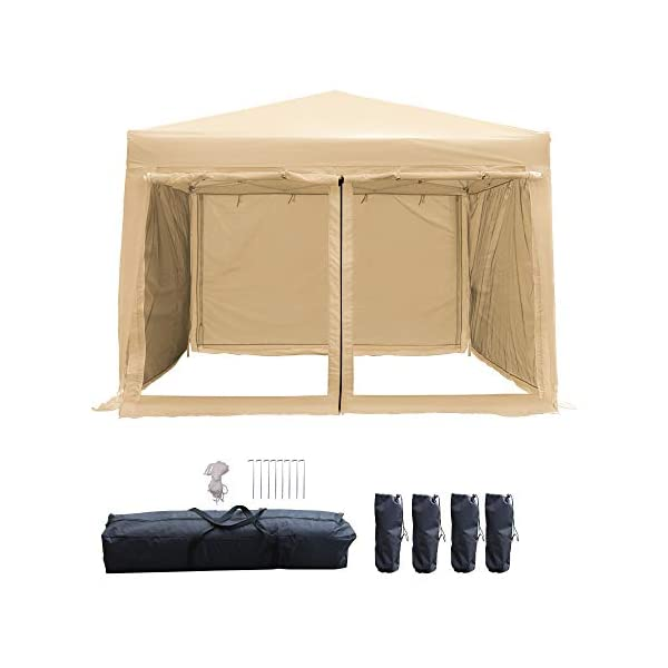 LAZZO 10x10ft Pop up Canopy Tent, Portable Commercial Outdoor Canopy Shelter with...