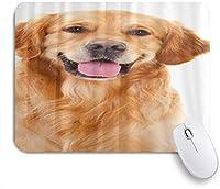 VAMIX マウスパッド 個性的 おしゃれ 柔軟 かわいい ゴム製裏面 ゲーミングマウスパッド PC ノートパソコン オフィス用 デスクマット 滑り止め 耐久性が良い おもしろいパターン (ゴールデンレトリバーの美しい犬)