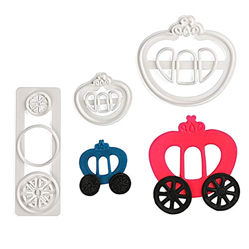 Tractor Car Fense Shape Fondant Cake Cookie Tool Biscuit Cutter Baking Mold Sugarcraft Pastry Tool Kitchen Accessories,3Pcs Crown Car