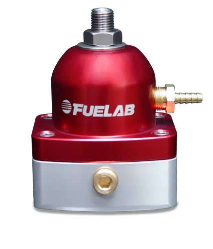 Fuelab 51502-2 Universal Red EFI Adjustable Fuel Pressure Regulator