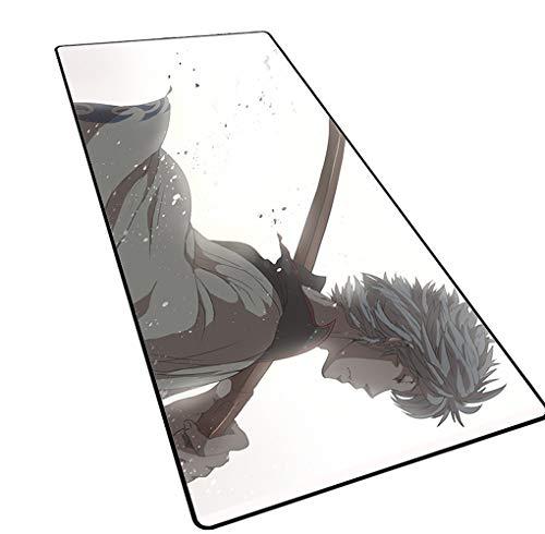 1STSPT Anime Muismat Gamer Groot van robuust rubber met sperrand, voor gaming en muismat, XXL, laptop, bureau, deurmat, toetsenbord 900X400X3MM GINTAMA-2