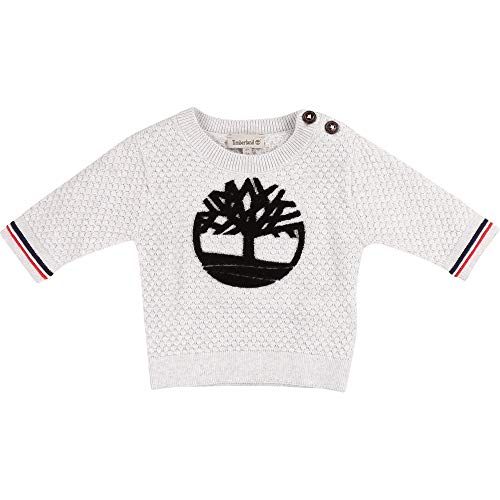 Timberland Pull en Tricot Fantaisie Bebe Couche Gris Clair Chine 1MOIS