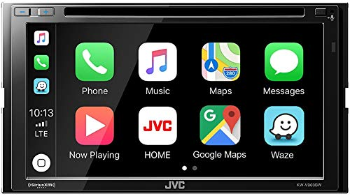 """JVC KW-V960BW Built in Wi-Fi for Wireless CarPlay Android Auto, CD/DVD 6.8"""" LCD Touchscreen Display, AM/FM, Bluetooth, MP3 Player, USB Port, Double DIN, 13-Band EQ, SiriusXM, Class D Amp, Car Radio"""
