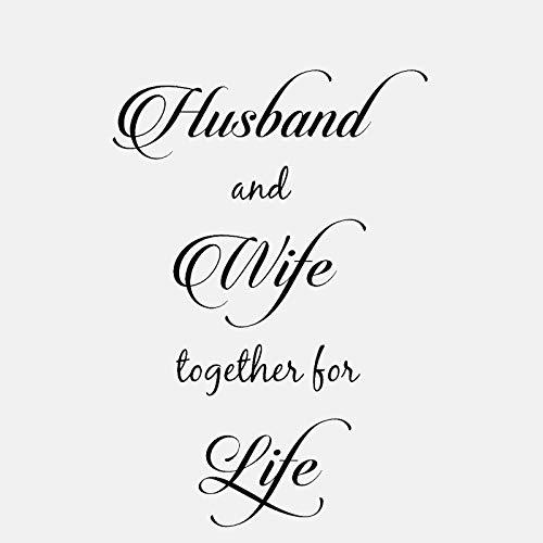 50CM * 72CM Marido y esposa juntos por la vida Casado con Wall