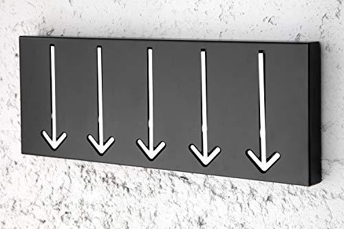 Licht-Erlebnisse Perchero de pared (5 ganchos, función...
