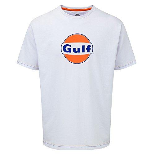 """T-Shirt mit Aufschrift """"Gulf"""" - weiß, XL"""