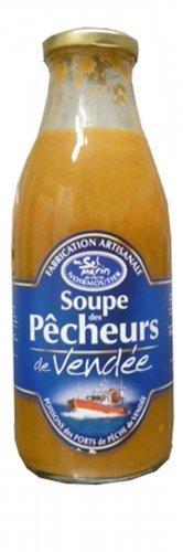 950ml bester Fischsuppe vom Atlantik, in der Flasche, Soupe des Pêcheurs de Vendée.