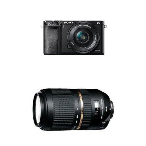 Sony Alpha 6000L Fotocamera Compatta con Ottiche Intercambiabili + Obiettivo 16-50mm + Tamron SP70-300 F/4-5.6 Di USD