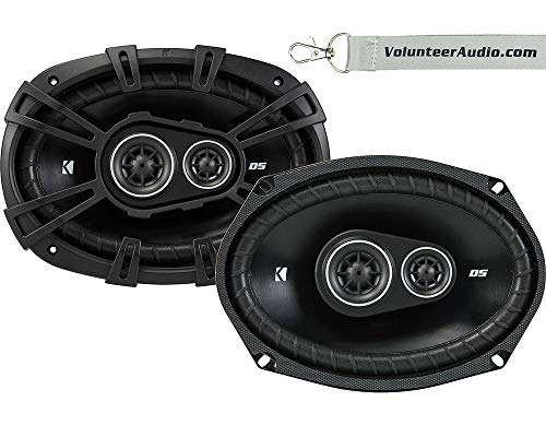 Price comparison product image Kicker DS Series DSC69304 6X9 3-Way 4-Ohm 90 Watt RMS Coaxial Car Speaker Pair