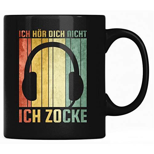 Ich Hör Dich Nicht Ich Zocke - Spruch Kaffee Tasse lustig Kaffeetasse Kaffeebecher Geschenk - Gamer Tassen mit Sprüchen, PC Zocken Gaming Geschenkidee