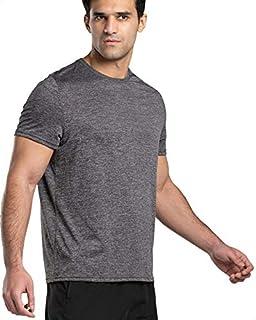 Magma Basic Polyester Chest Logo Print Short Sleeves Round Neck Sports T-Shirt for Men