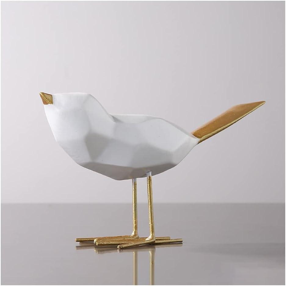 Decoración de escritorio Origami Golden Bird Sculpture Jewelry Home Craft Regalo Sala de estar Gabinete de vino TELEVISOR Obra de arte de la estatua de escritorio Decoración hogar ( Color : B )