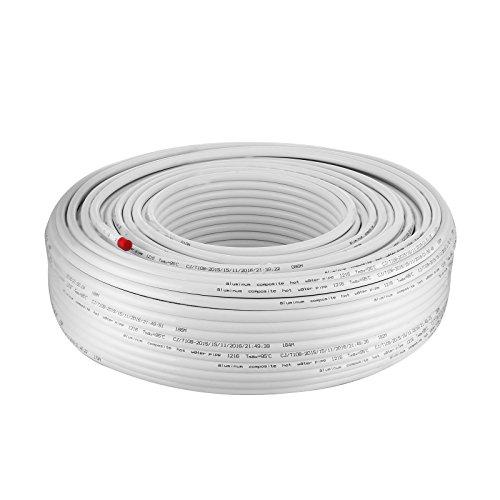 BuoQua Verbundrohr 200M PEX AL PEX Isoliert Aluverbundrohr 16 x 2mm Ungiftige Fußboden-Heizungsrohr Warm- und Kalt-Wasserrohr Mehrschichtverbundrohr (200 M)
