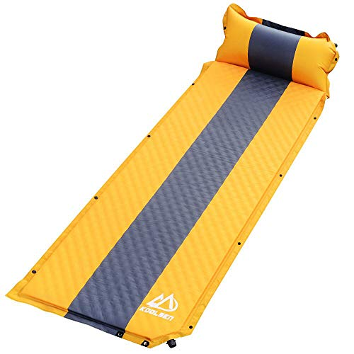 エアーマット キャンプマット キャンピングマット KOOLSEN エアーベッド 自動膨張 連結可能 テント泊 車中泊 耐水加工 アウトドア キャンプ 寝袋 枕が付き 家族旅行