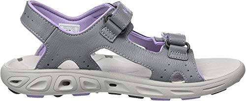 Columbia Techsun™ Vent, Sandalias para Niñas, Gris (Tradewinds Grey, White Violet), 38 EU