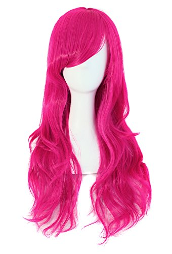 """MapofBeauty 28"""" 70cm Long Curly Hair Ends Costume Cosplay Wig (Peachblow)"""