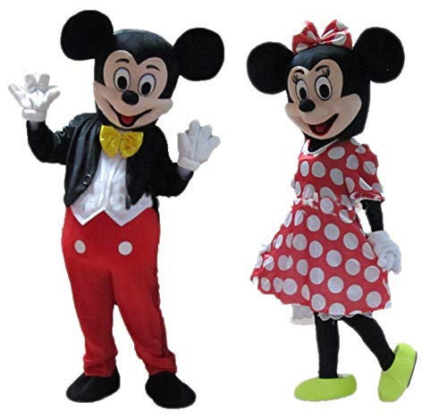 Couple of Mickey Minnie Mouse Costume Adults Mickey & Minnie Suit
