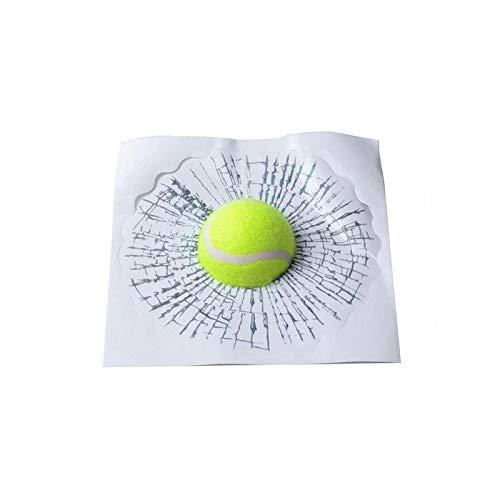 3D-Spoof-Fenster-Aufkleber Smashed Sprung Tennis Baseball Aufkleber Unterbrochenes Fenster Witz-Streich