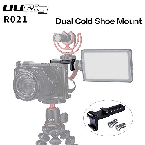 Metermall R021 General Camera Cage Rig Double Dual Hot Cold Shoe Mic Bracket Universal Camera Accessories