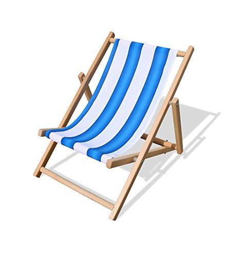Beluga Spielwaren 30514 - Kinderliegestuhl, blau/weiß